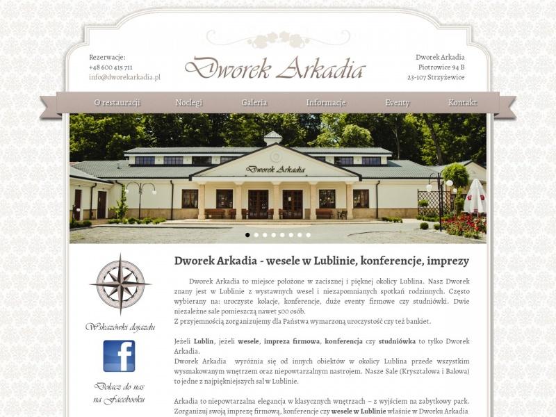 Dworekarkadia.pl - sala weselna