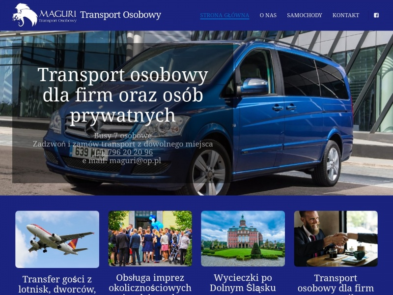 Maguri transport osobowy rozwożenie gości przewóz