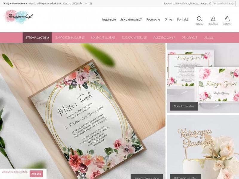 Stronawesela.pl - Zaproszenia Ślubne i dodatki weselne