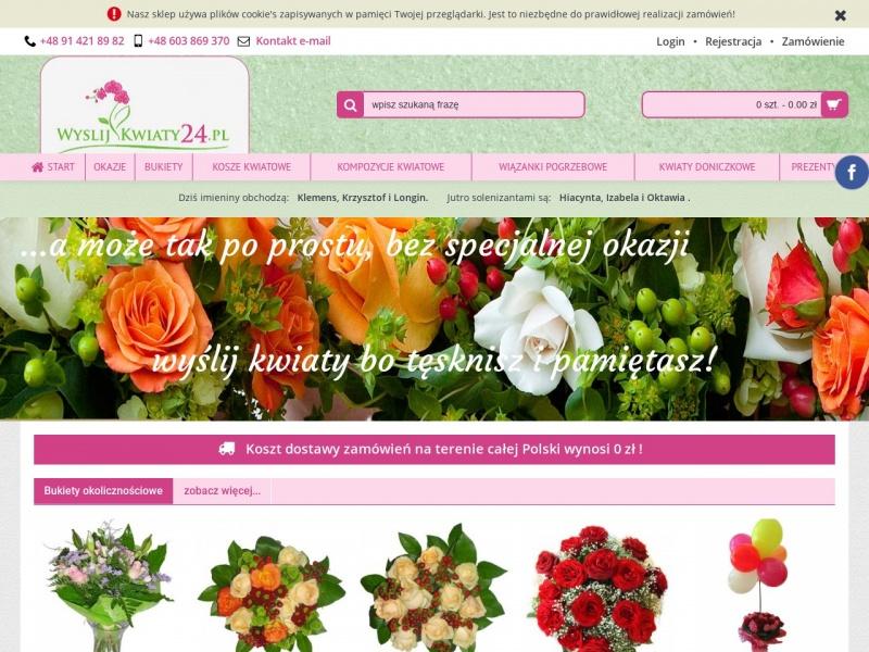 Kwiaciarnie internetowe Szczecin